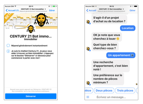 chatbot immobilier century 21